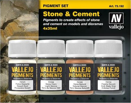 "Vallejo Pigment Set ""Stone & Cement"""