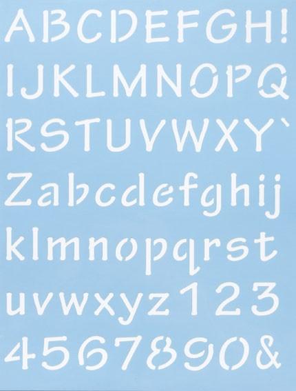 Alphabet Schablone Nr. 7, DIN A4