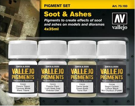 "Vallejo Pigment Set ""Soot & Ashes"""