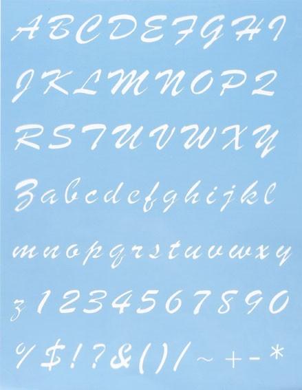 Alphabet Schablone Nr. 9, DIN A4
