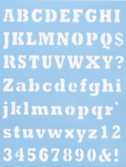 Alphabet Schablone Nr. 5, DIN A4