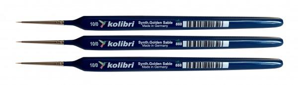 Synthetic Golden Sable-Detailpinsel 10/0, 3 Stück