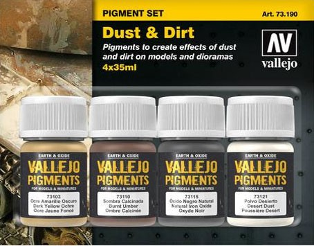 "Vallejo Pigment Set ""Dust & Dirt"""