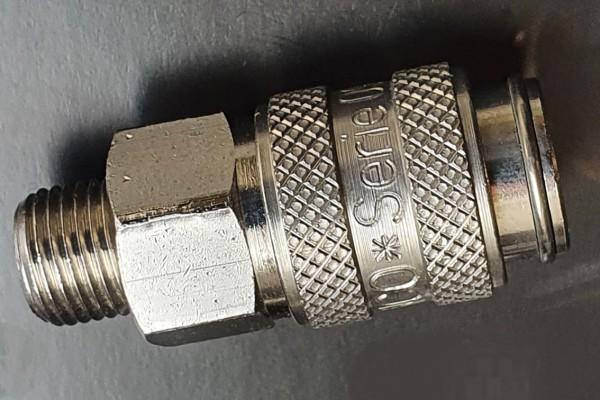 """Schnellkupplung, NW 5 mm - 1/8"""" Außengewinde"""