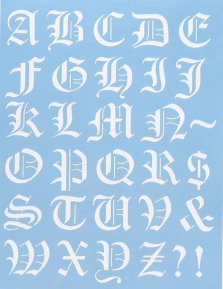 Alphabet Schablone Nr. 2, DIN A4