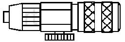 Schnellkupplung regulierbar, NW 2,7 - PVC-Schlauch 4 x 6 mm