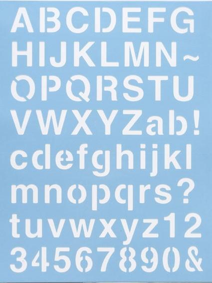 Alphabet Schablone Nr. 1, DIN A4