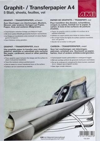 AMI Graphit- / Transferpapier, schwarz, A4