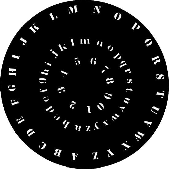 Schablone Buchstaben und Zahlen