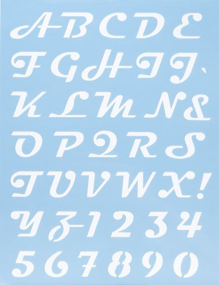 Alphabet Schablone Nr. 8, DIN A4