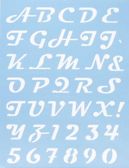 Alphabet Schablone