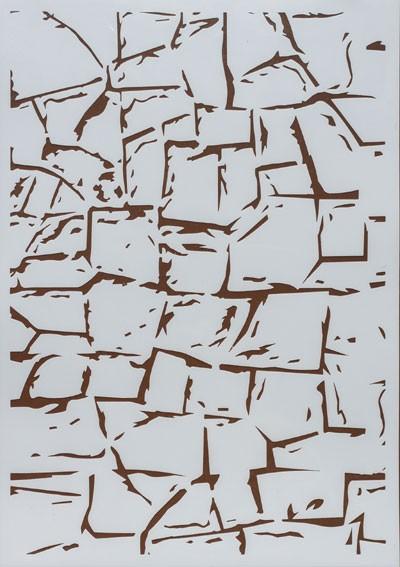 Design Schablone Steinwand