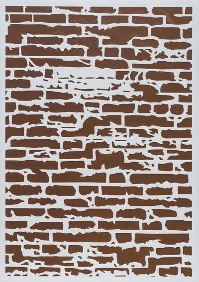 Design Schablone Ziegelwand