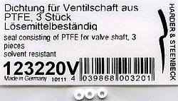 O-Ring für Ventilschaft aus PTFE, 3 Stk.