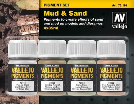 "Vallejo Pigment Set ""Mud & Sand"""