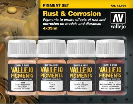 "Vallejo Pigment Set ""Rust & Corrosion"""