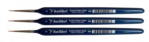 Synthetic Golden Sable-Detailpinsel 0, 3 Stück